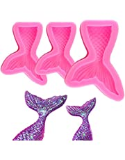 Silicone Fondant Cake Molds, IHUIXINHE Non-Stick Chocolate, Jelly, Candy Mold, Cupcake Decoration Tool (Mermaid Tail)