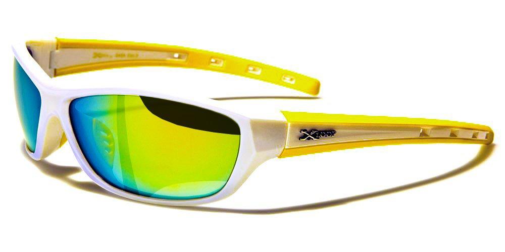 X-Loop Lunettes de Soleil - Sport - Cyclisme - Ski - Vtt - Running - Moto - Tennis / Mod. Cobalt Blanc Jaune bsOVb0