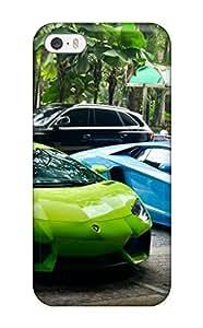 Awesome OvPKohI3318qECXE DeniseMA Defender Tpu Hard Case Cover For Iphone 5/5s- Green And Blue Lamborghini Super Drive Chrome Cars Lamborghini