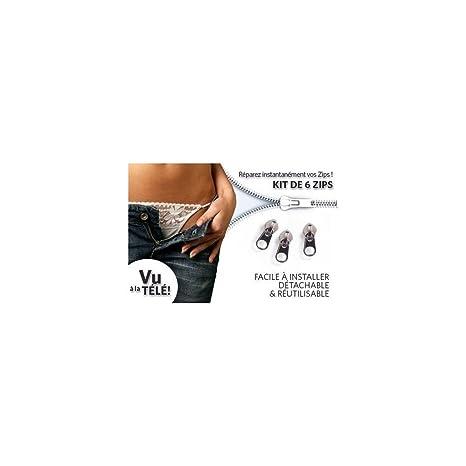 Set de reparación de cremalleras Fix a Zipper, 6 cremalleras, para prendas de vestir