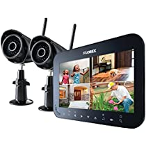 LOREX LW2742  by Flir Wireless 4-Channel Surveillance System with 7 LCD Screen & 2 Wireless Cameras (Black)