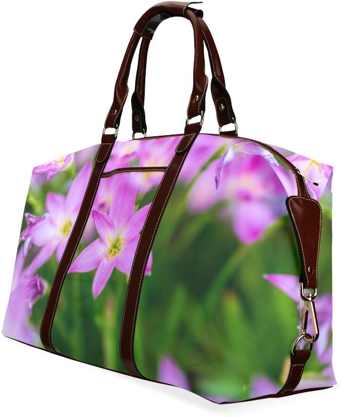 Duffel Bags Zephyranthes Grandiflora Flower Classic Oversized Waterproof Pu Leather Duffel Bag Waterproof Men Handbag
