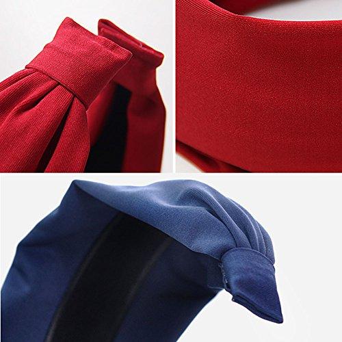Femmes élégantes tissu respirant Bandeau cheveux bande Hairband accessoire, Gris