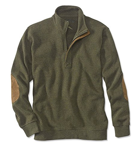 Orvis Men's Pursell Softest Quarter-Zip Pullover, Olive Heather, Xx Large