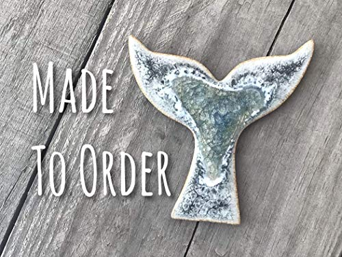 Whale Tail Geode Crackle Magnet, Refrigerator Magnet, Custom Magnet, Dock 6 Pottery, Kerry Brooks -