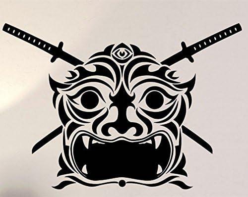 Samurai Mask Japan Asian Rubber Stamps custom stamps rubber