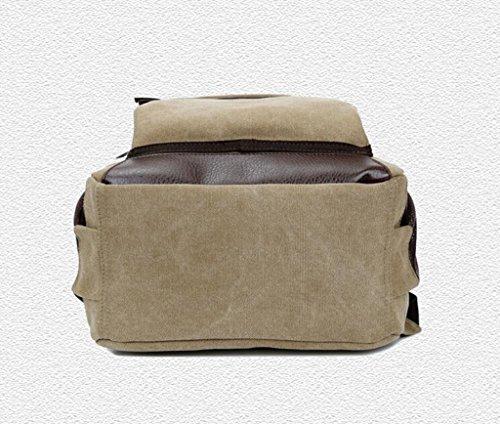 Sucastle sacchetti di svago sacchetto di modo del sacchetto di spalla di tela retrò borsa zaino Sucastle Colore:cachi Dimensione:45x30x13cm
