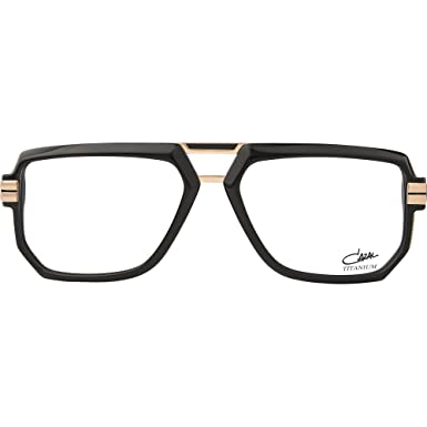 0f591d608194 Image Unavailable. Image not available for. Color  Cazal 6013 Eyeglasses  001 Black-Gold   Clear Lens ...