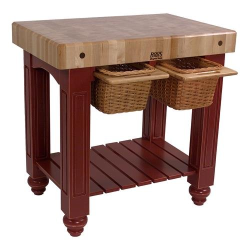 American Heritage Kitchen Island with Butcher Block Top Base Finish: Barn Red by John Boos