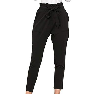 7bd1d5609 Eté Elégante Mode Trousers Femme Taille Élastique Pantalon De ...