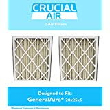 2 GeneralAire 14201 & 4501 Pleated Furnace Air Filter 20x25x5 MERV 8, by Think Crucial