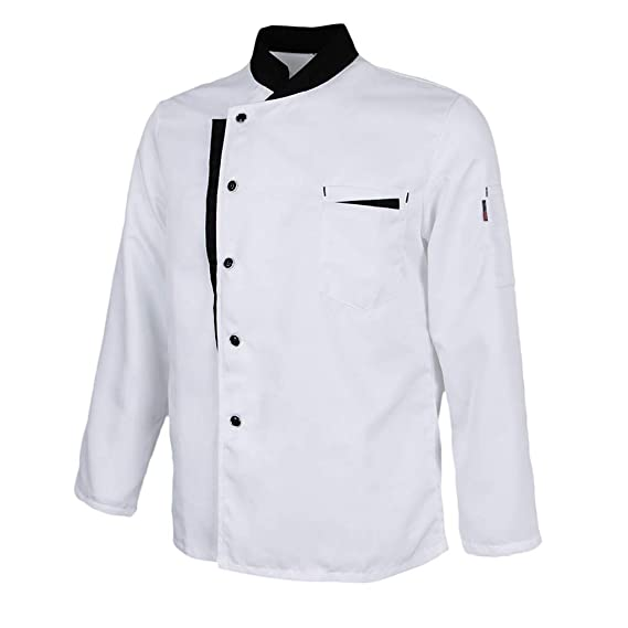 Baoblaze Chaqueta de Chef Mangas Largas Jacket Coat Hotel ...