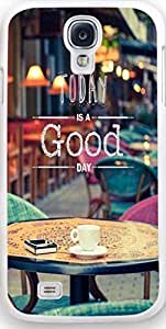 NADIA DAOJIE CASE Dseason Samsung galaxy S4 mini Hard Case NEW High Quality Unique Design Christian Quotes today is a good day
