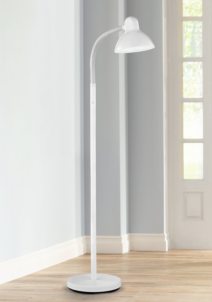 Amazon.com: Adjustable Gooseneck Arm Floor Lamp In White: Home Improvement