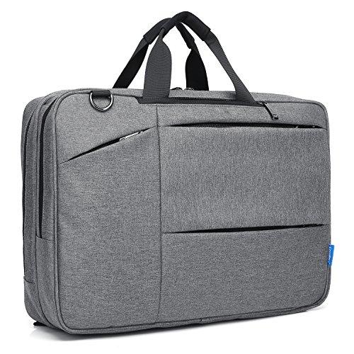 CoolBELL Convertible Messenger Bag Backpack Shoulder Bag Laptop Case Handbag Business Briefcase Multi-Functional Travel Rucksack Fits 17.3 inch Laptop for Men/Women (Grey) by CoolBELL (Image #6)