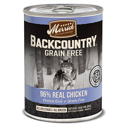 (Merrick Backcountry Grain Free 96% - Real Chicken Wet Dog Food, Case Of 12, 12.7 Oz.)