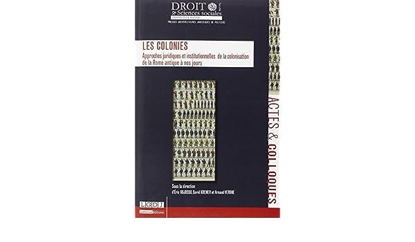 Colonies. Approches juridiques et institutionnelles de la colonisation de la Rome antique à nos jours: 9791090426368: Amazon.com: Books