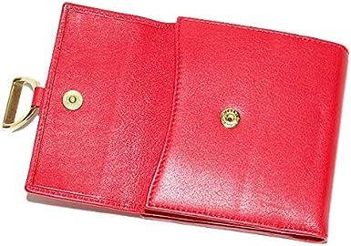 Ralph Lauren Polo Cartera de piel para mujer, color rojo y dorado ...