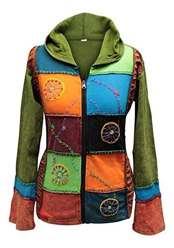 Shopoholic De Moda Para Dama Multicolor Rueda Bordado Hippie ...