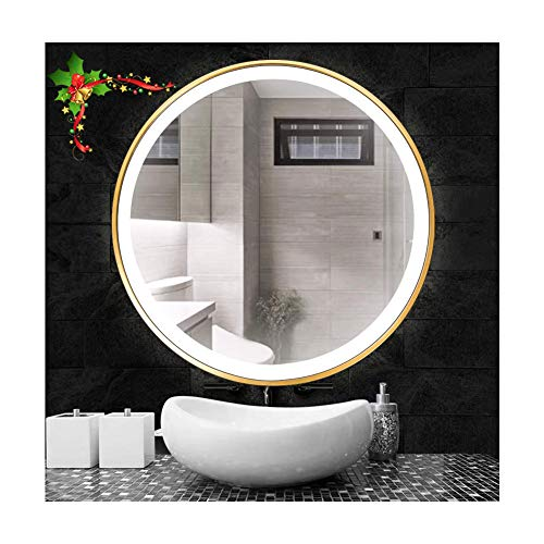Beauty4U Bedroom Round LED Mirror 19.7