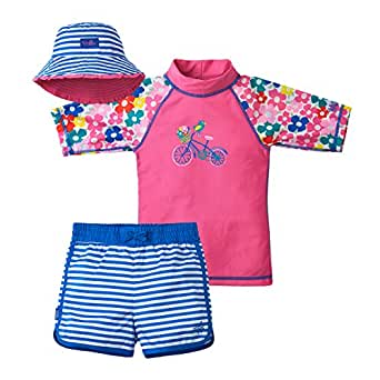 964d982db0 Amazon.com  UV SKINZ UPF 50+ Girls 3-Piece Swim Set  Clothing