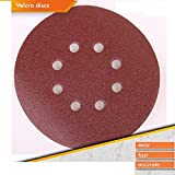 50x Random Orbit Sanding Discs Velcro Sand Paper Diameter 180mm 8hole P40P240