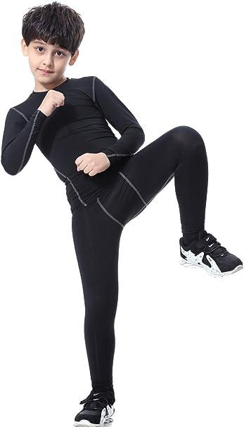 Girls Boys SnowSport Base Layer Long Sleeve Top Leggings Pant