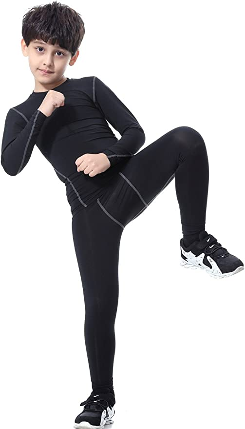 Boy/'s Thermal Underwear Set Winter Active Long Johns for Kids 8-16 Years Ultra Soft Fleece Lined Compression Base Layer