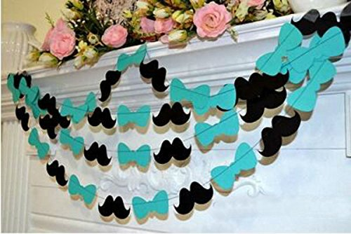 Efivs Arts Bowtie Baby Shower Garland, it's a boy Party Decorations, Mustache Bow Tie Garland
