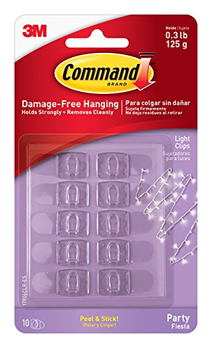 Command Party Light Clips, 12-Clips (17806CLR-EF)