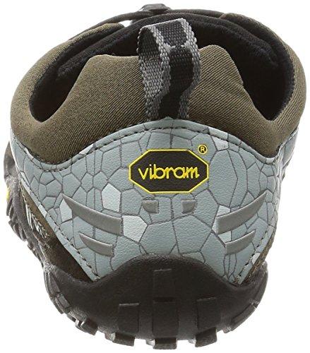 Vibram Fivefingers Trekking Light/running W4125 Spyridon Ls - - Mujer Oliva / Gris / Negro