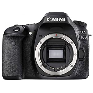 Canon EOS 80D DSLR Camera Body + Canon EF-S 18-55mm + Canon EF-S 55-250mm Lens & Telephoto 500mm f/8.0 (Long) + Wide Angle Lens + 58mm 2x Lens + Macro Filter Kit + 32GB Memory Card + Accessory Bundle from Canon