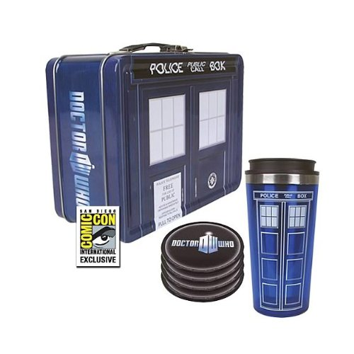 Doctor Who TARDIS Tin Tote Gift Set - SDCC Exclusive
