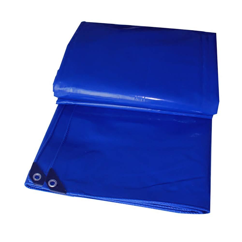 タープ PVC防水タパリン0.48ミリメートルの厚さ - 600グラム/平方メートルのターポリンで作られたプレミアム品質のカバー (色 : 青, サイズ さいず : 3MX4M) 3MX4M 青 B07JL6X5QB