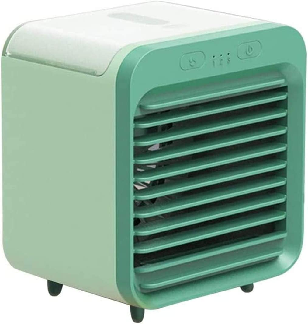 Rapid Cooling In Just 30 Seconds White Portable Mini Personal Air Conditioning Units Eco-Friendly Evaporative Cooler 2020 Blaux Wearable AC Rechargeable Water-Cooled Air Conditioner with Handle