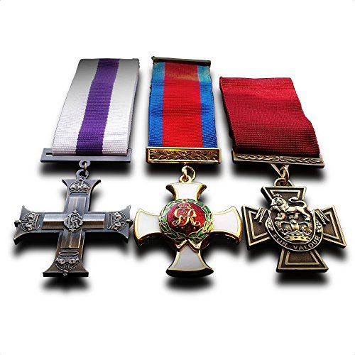 Military Medals 3x Set Military Cross Distinguished Service Order & Victoria Cross Medals Repro