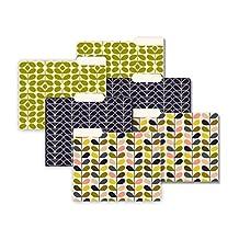 Studio Oh! Orla Kiely Mid-Century Stems Letter Size 1/3 Cut 6 Count File Folder Set