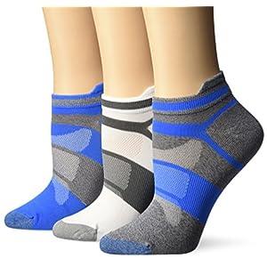 ASICS Women's Quick Lyte Single Tab Running Socks (3 Pack), Diva Blue, Small