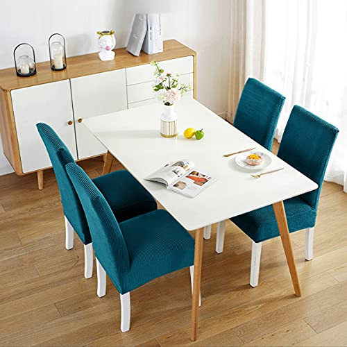 Dining Room Chair Covers, Removable Stretch Dinning Kitchen Chairs Slip Cover Parson Slipcovers for Home, Hotel, Banquet, Ceremony | Teal