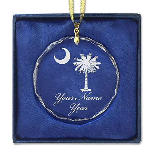 Ornament, Flag of South Carolina, Personalized Engraving Included (Round Shape) ()