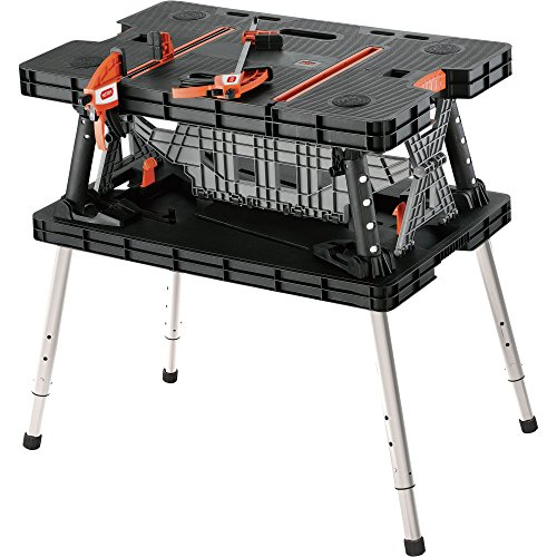 Keter Folding Work Table/Bench – 700-Lb. Capacity with Extendable Legs