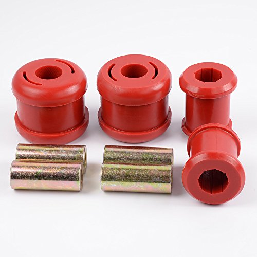 Red Front Lower Control Arm Bushing For 01-05 Honda Civic 2002-2006 Acura RSX