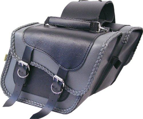 Willie & Max Gray Thunder Braided Compact Slant Saddlebags (Slant Braided Compact)
