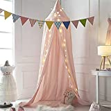 Kids Bed Canopy with Hanging Mosquito Net for Baby Crib Nook Castle Game Tent Nursery Play Room Decor