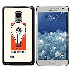 Paccase / SLIM PC / Aliminium Casa Carcasa Funda Case Cover para - Light Bulb Stay Quote Life Attitude - Samsung Galaxy Mega 5.8 9150 9152