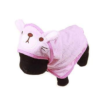 Queta - Toalla de baño Absorbente para Mascotas, multifunción, para Perros Rosa Rosa M: Amazon.es: Informática