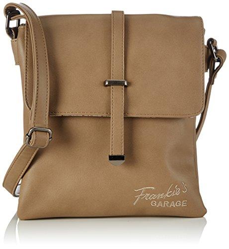 Frankie's Garage Mika - Bolso de hombro de piel sintética mujer marrón - Braun (taupe 016)