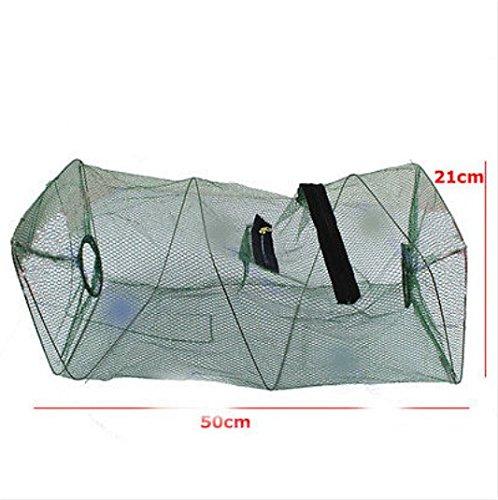 Hot Sale Foldable Crab Fish Crawdad Shrimp Minnow Fishing Bait Trap Cast Dip Net Cage Fishing Net - Bass Bill Sunglasses