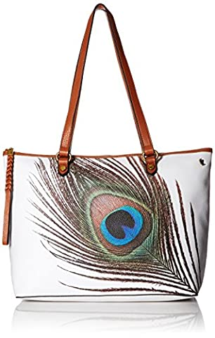Elliott Lucca Ana Small Tote, White Peacock - Elliott Lucca Leather Shoulder Bag
