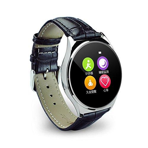 Amazon.com: JDA Z02 Smart Watch Slim Thin Metal Round ...